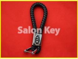 Брелок KIA кожаный шнурок карабин
