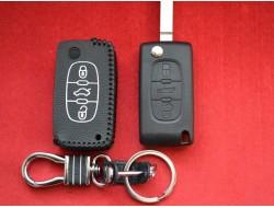 Чехол кожаный для ключа Citroen 3 кнопки