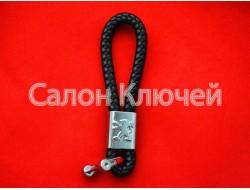 Брелок Пежо кожаный шнурок карабин