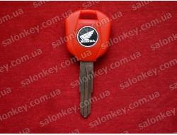 Ключ мото Honda с местом под чип красный короткий