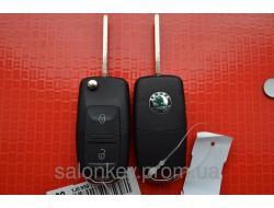Ключ Skoda superb, octavia, roomster выкидной 2 кнопки ID48, 434Mhz 1J0 959 753 AG