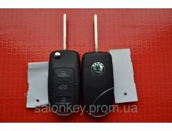 Ключ Skoda выкидной 3 кнопки ID48, 434Mhz 1J0 959 753 AH