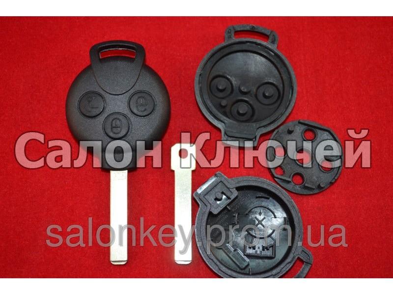 Ключ Smart Fortwo 3 кнопки корпус с 2010 г.