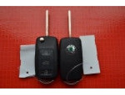Kлюч Skoda octavia, fabia, roomster, superb выкидной 3 кнопки