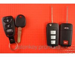 Выкидной ключ Hyundai для переделки 3+1 кнопки Вид Пластик