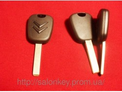 Ключ для Citroen C2, Citroen C3, Citroen C4, C5, C6, с иммобилайзером с 2002г VA2