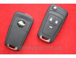 Выкидной корпус ключа 3 кнопки Chevrolet cruze, aveo с 2010г. под оригинал