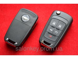 Выкидной корпус ключа 5 кнопок Chevrolet cruze, aveo с 2010г. под оригинал