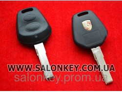 Porsche ключ 2 кнопки. Без электроники. Вид №1