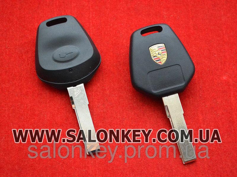 Porsche ключ 1 кнопки. Без электроники. Вид №1