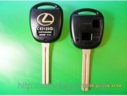 Корпус ключа на Lexus 2 кнопки длинный es300, land cruiser, ls400, lx450, lx470, es300