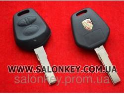 Porsche ключ 3 кнопки. Без электроники. Вид №1