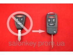 Ключ Chrysler выкидной 4 кнопки корпус для переделки из обычного