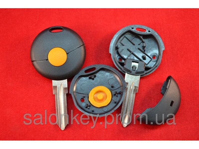 Smart Fortwo Cabrio корпус для ключа 1 кнопка без логотипа