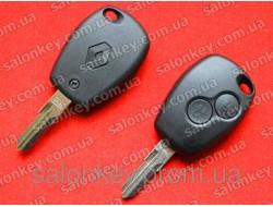 Renault ключ 2 кнопки лезвие VAC102 ID46 434Mhz.