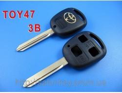 Ключ Toyota Auris, Avensis, Carina, Yaris корпус 3 кнопки лезвие TOY47
