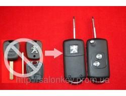 Ключ Peugeot 407 выкидной Для переделки из обычного вид№1