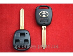 Ключ корпус 3 кнопки лезвие TOY43 Toyota Camry, 4Runner, Auris, Corolla, Land Cruiser