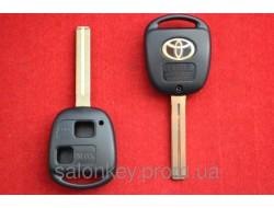 Корпус ключа Toyota Prado, Land Cruiser 2 кнопки лезвие Toy48