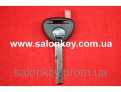 Ключ Volvo с местом под чип, лезвие HU56 с логотипом
