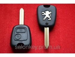 Ключ Peugeot partner 2 кнопки корпус ключа лезвие CX9