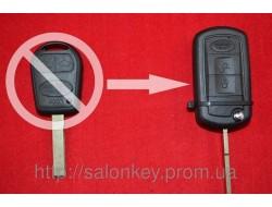 Ключ выкидной LAND ROVER. Для переделки из обычного 3 кнопочного.