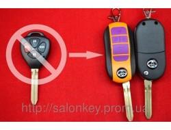 Выкидной ключ Toyota 4 кнопки. Для переделки вид ORANGE