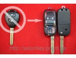 Toyota RAV4, Corolla выкидной ключ 2 кнопки вид Машинка HROME