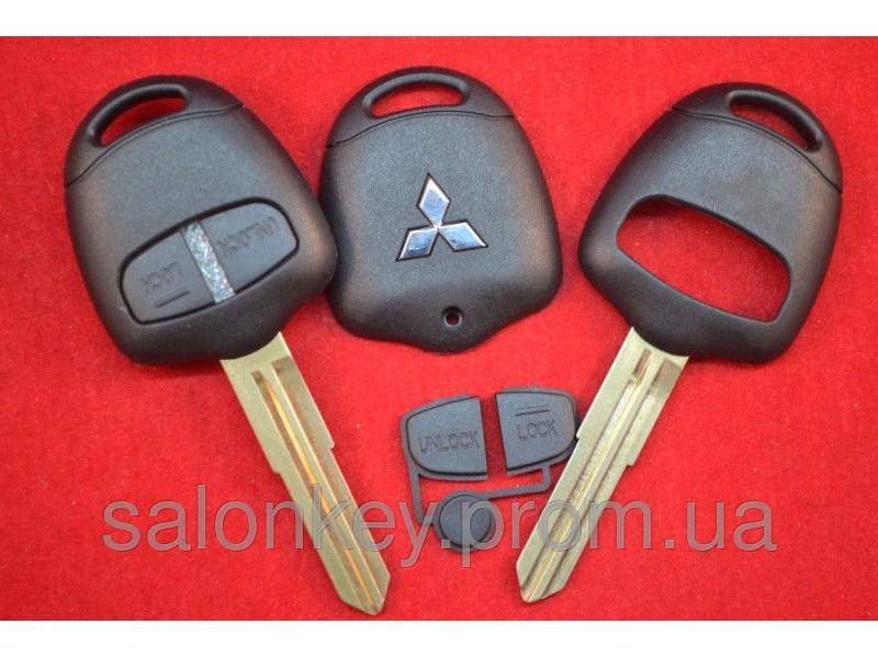 Корпус ключа Mitsubishi outlander, pajero, L200, 2 кнопки Лезвие MIT 8L