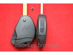 Ключ Citroen jumpy выкидной корпус 2 кнопки Ракушка