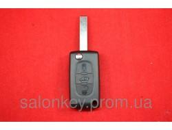 Ключ Peugeot Expert 3 кнопки с 2007 г. выкидной корпус Оригинал