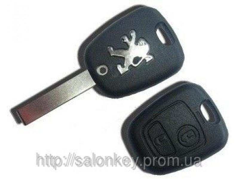Peugeot 307 Ключ 2 кнопки. 46id 433Mhz