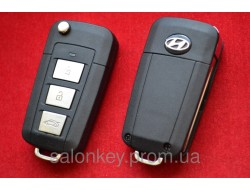 Выкидной ключ Hyundai для переделки 3 кнопки Вид Пластик