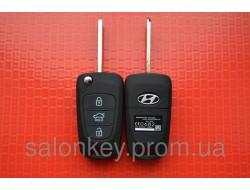 Ключ Hyundai выкидной корпус 3 кнопки средняя HOLD