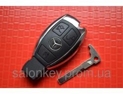 Ключ Mercedes. Хромированная рыба NEC 433MHZ.