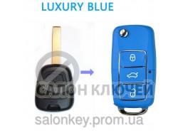 Ключ Peugeot 107 выкидной голубой