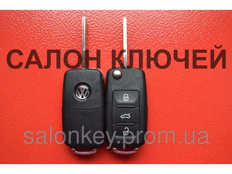 Ключ volkswagen t5, trasporter, caddy, jetta выкидной корпус оригинал с 2010 г.