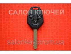 Ключ Subaru вид ромб 3 кнопки 433Mhz чип 4D id62 лезвие Dat17. P\N: 88049SC000