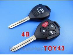 Ключ TOYOTA 4кнопки FCC ID:HYQ12BBY IC:1551A-12BBY  DENSO