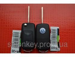 Ключ Volkswagen Golf выкидной 2 кнопки 434Mhz id48.