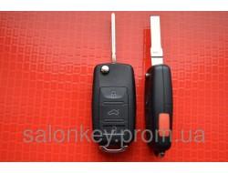 Ключ Volkswagen b5, passat выкидной 4 кнопки 315Mhz id48. 1KO 959 753 P