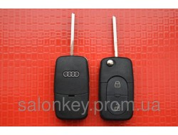 Audi A3, A4, A6, A8, S6, S8, TT выкидной ключ 2 кнопки Под батарейки 1620