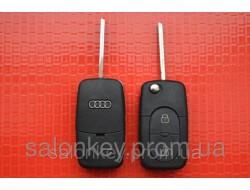 Audi A3, A4, A6, A8, S6, S8, TT выкидной ключ 2 кнопки Под батарейку 2032