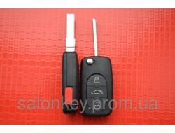 AUDI выкидной ключ 3+1 кн. Под батарейку 2032. Без электроники.