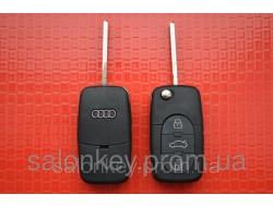 Ключ AUDI выкидной 3 кнопки 433Mhz id48. 4DO 837 231 K