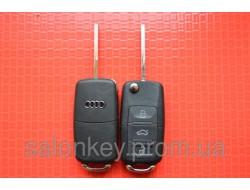 Ключ AUDI A8 выкидной 3 кнопки 433Mhz id46.