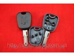 Ключ Peugeot 106, 206, 306 c местом под чип