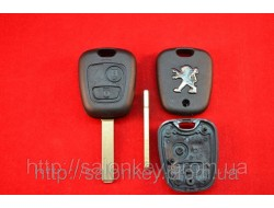Peugeot ключ 407, 107, expert корпус ключа 2 кнопки оригинал