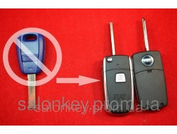 Fiat doblo, ducato, scudo, punto, fiorino ключ выкидной 1кн для переделки лезвие SIP22 ХРОМ