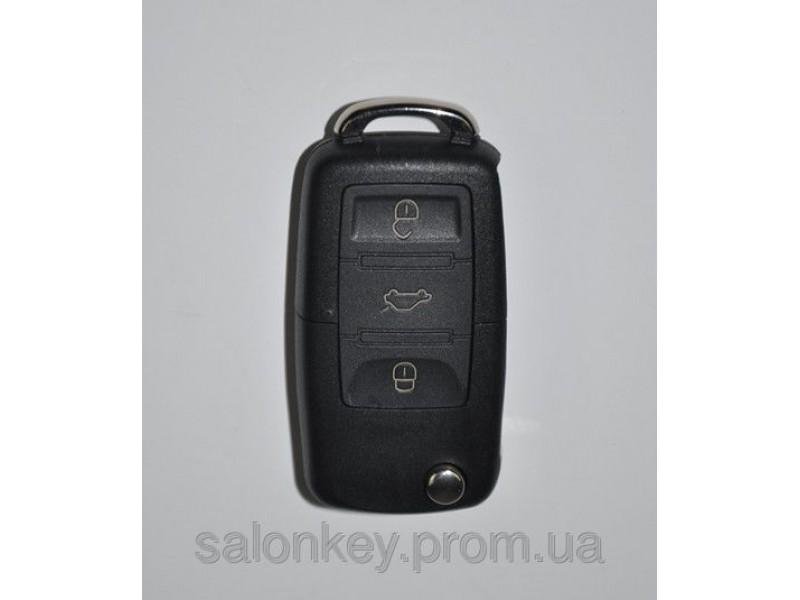 Ключ выкидной универсальный. Вид Volkswagen 3 кнопки.